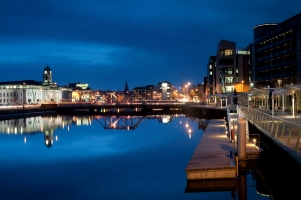 Cork city by night